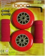 SET OF SCOOTER WHEELS 125MM AXER SPORT